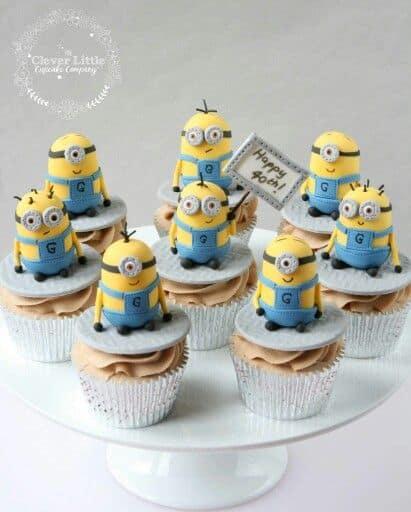 Cute Minion Cupcakes