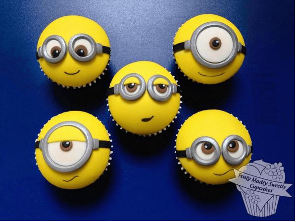 Cute Minions Cupcakes