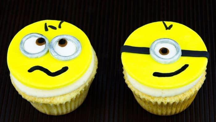 Despicable Me Minions Cupcake Faces