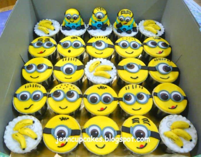Minions & Banana Cupcakes