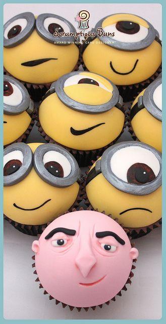 Minions & Gru Cupcakes by Scrumptious Buns