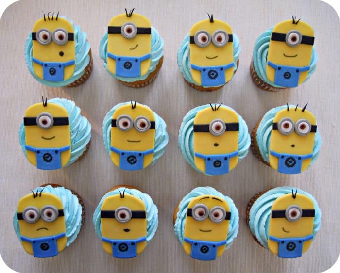 Minions Iced Cupcakes