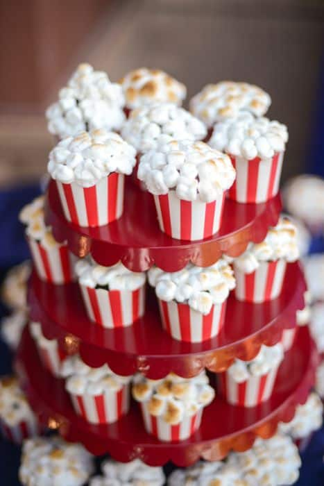 Adorable Popcorn Cupcakes