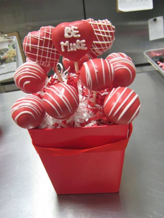 Be Mine Cake Pop Bouquet