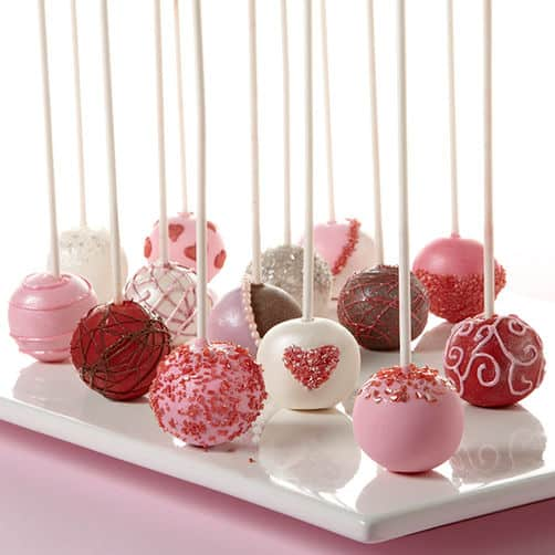 Valentine Cake ball Pops