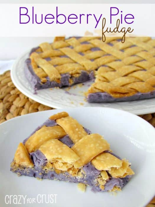 Blueberry Pie Fudge