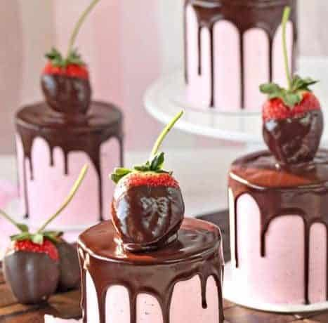 Chocolate Covered Strawberry Cakes