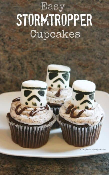 Easy Stormtropper Cupcakes