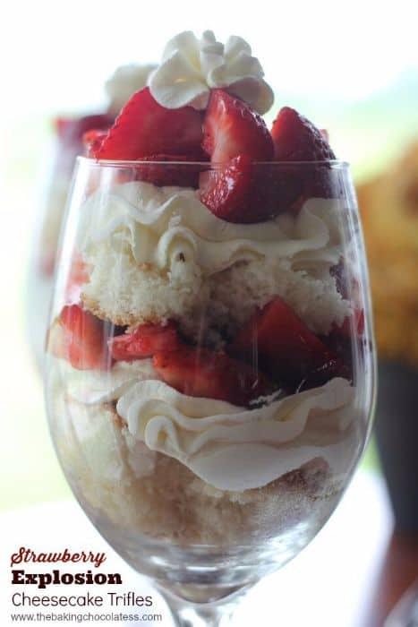 strawberry Explosion Cheesecake Trifle