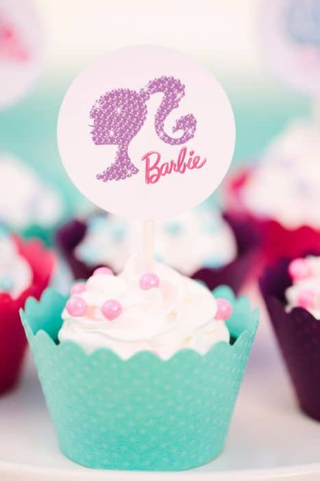 Barbie Cupcake Liner and Topper
