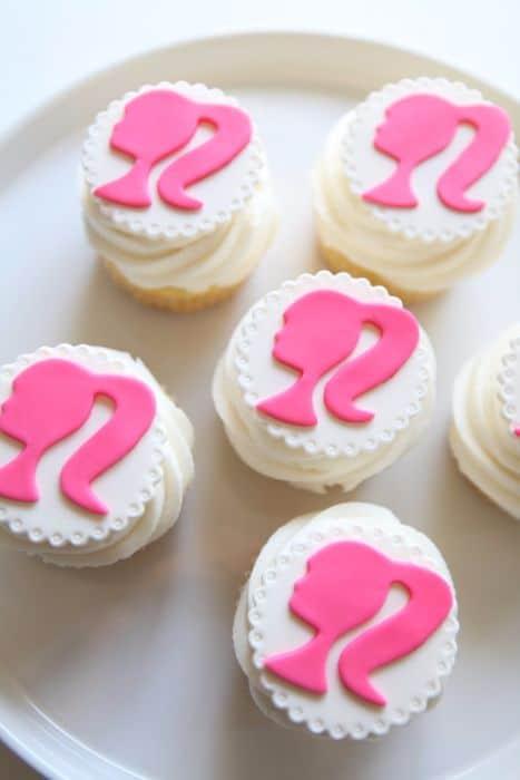 Barbie Silhouette Cupcakes