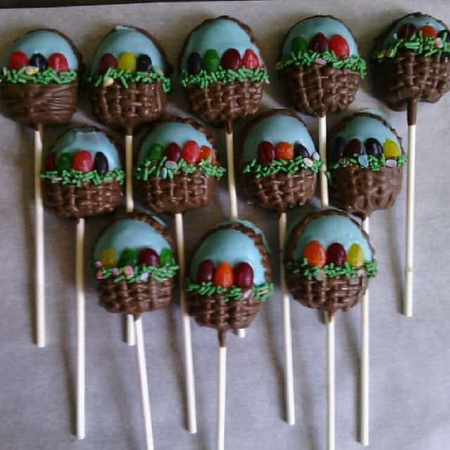 Easter Basket Chocolate Cake Pops