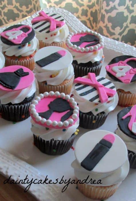 Fondant Barbie Glam Cupcakes