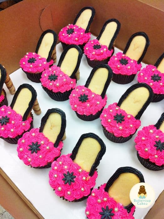 High Heel Barbie Cupcakes
