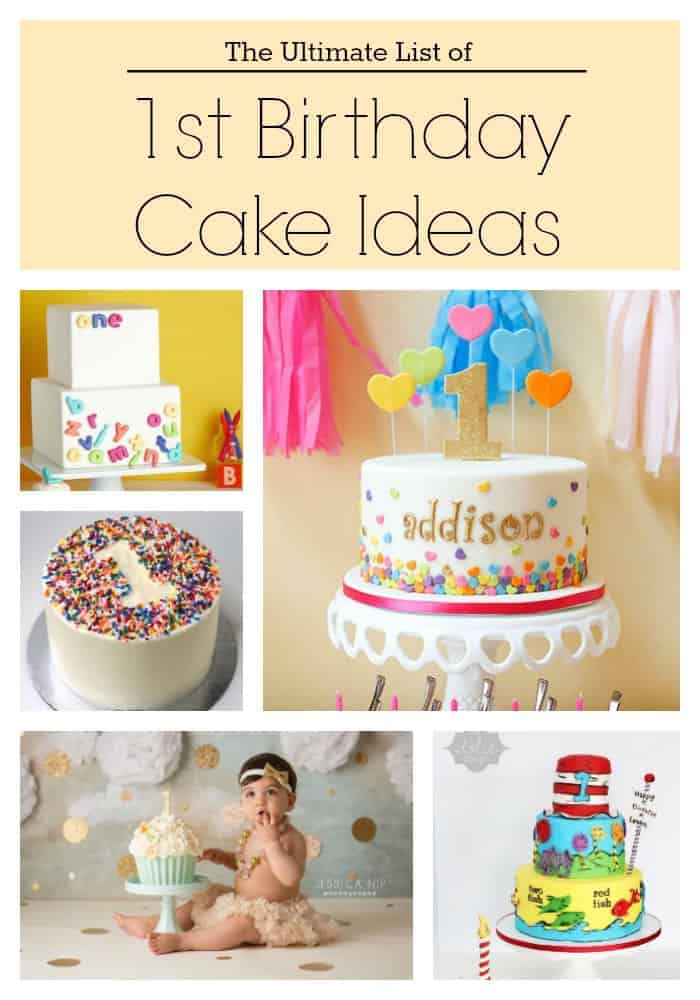 Fabulous The Ultimate List Of 1St Birthday Cake Ideas Baking Smarter Personalised Birthday Cards Veneteletsinfo