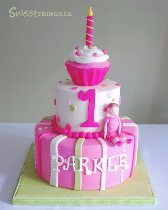 3 Tier Girls Birthday Cake