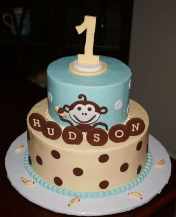 Boys Monkey Birthday Cake