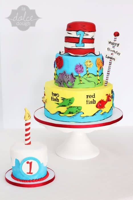 Dr Seuss 1st Birthday Cake