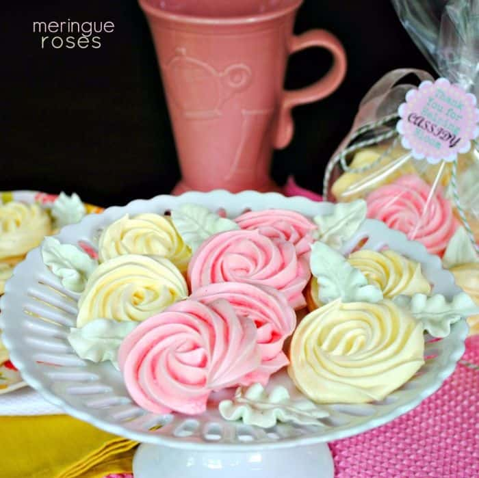 Meringue Cookie Roses